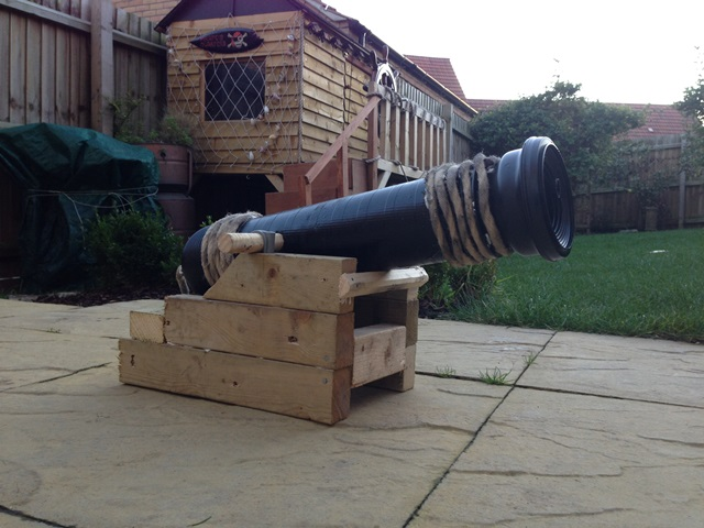 Every pirate shack needs a cannon.