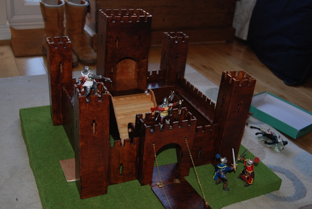 Wooden castle.